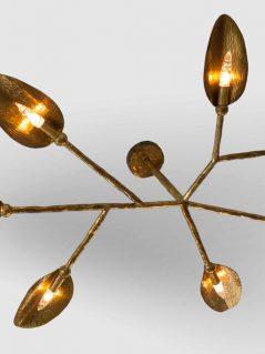 Hand Hammered Brass Chandelier
