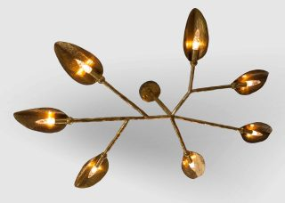 Hand Hammered Brass Chandelier